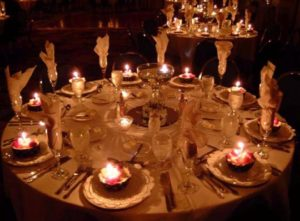 JACC image - candlelit tables